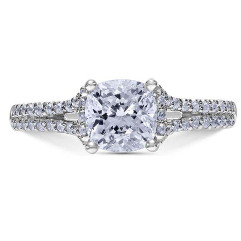 Scott Kay .38TW Heavem's Gate Engagement Ring Semi-Mounting in 14K White Gold