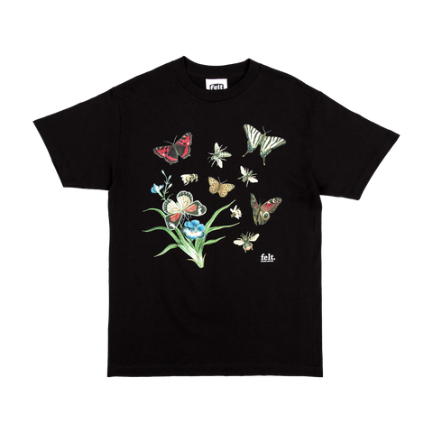 Black Butterflies & Bees T-Shirt