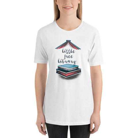 Little Free Library Blue and Pink Unisex Shirt