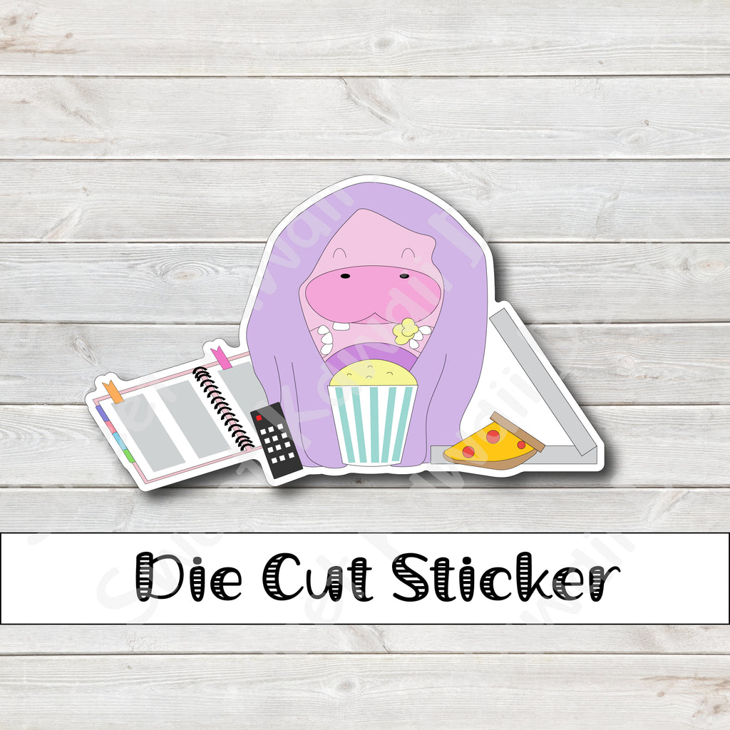 Kawaii Lazy Petunia Die Cut Sticker
