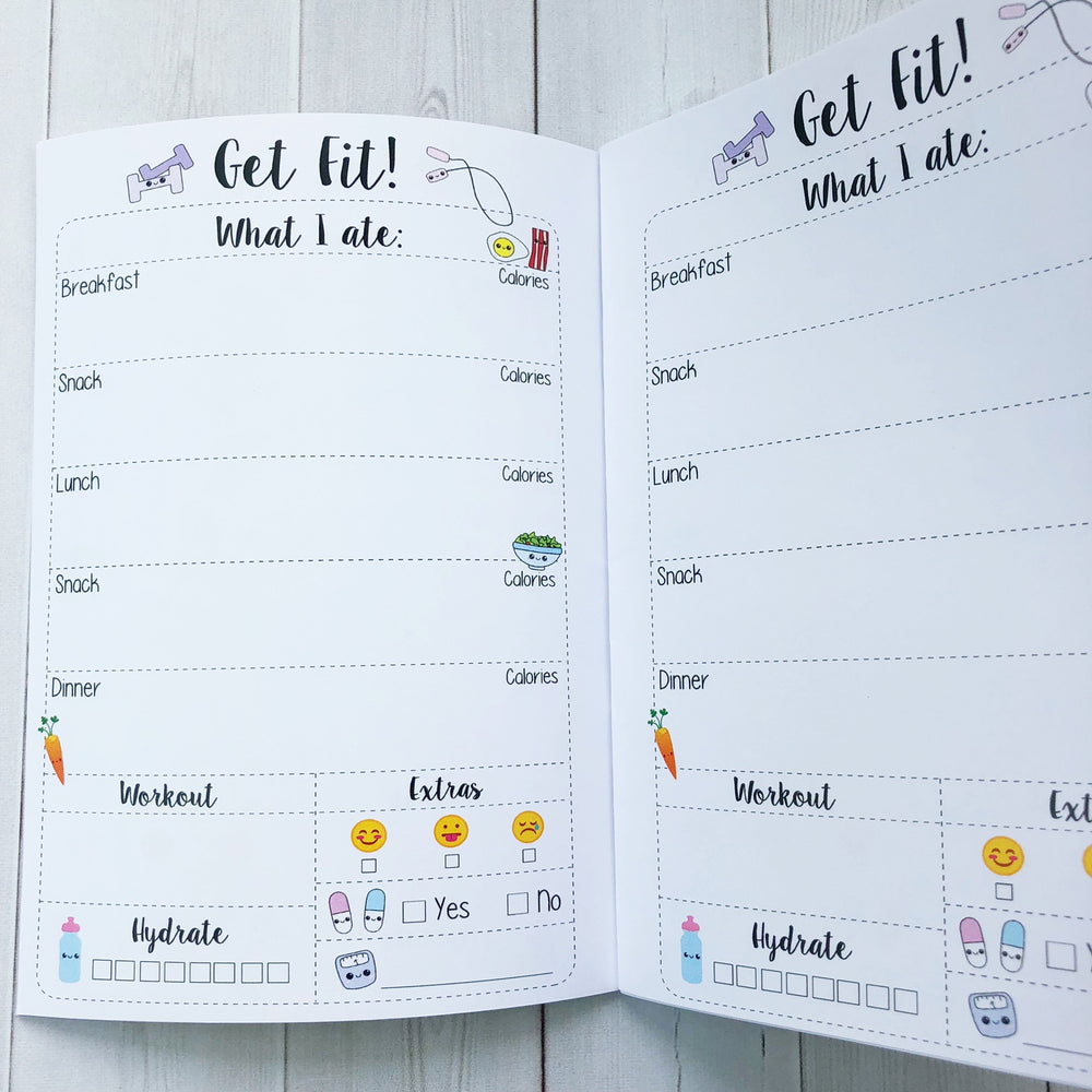 B6 - Get Fit Travelers Notebook Insert  (5x7)