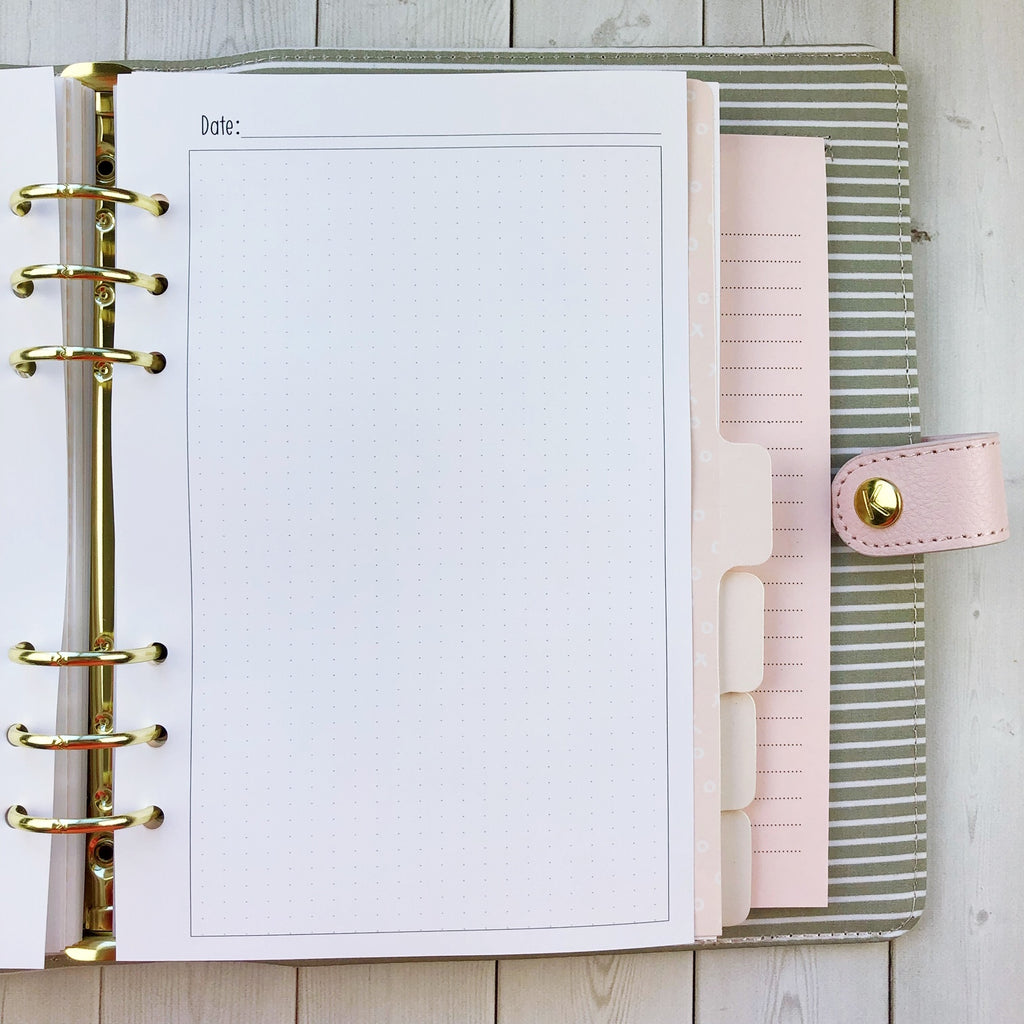 Kawaii Planner Insert - Dot Grid (2 sizes available)