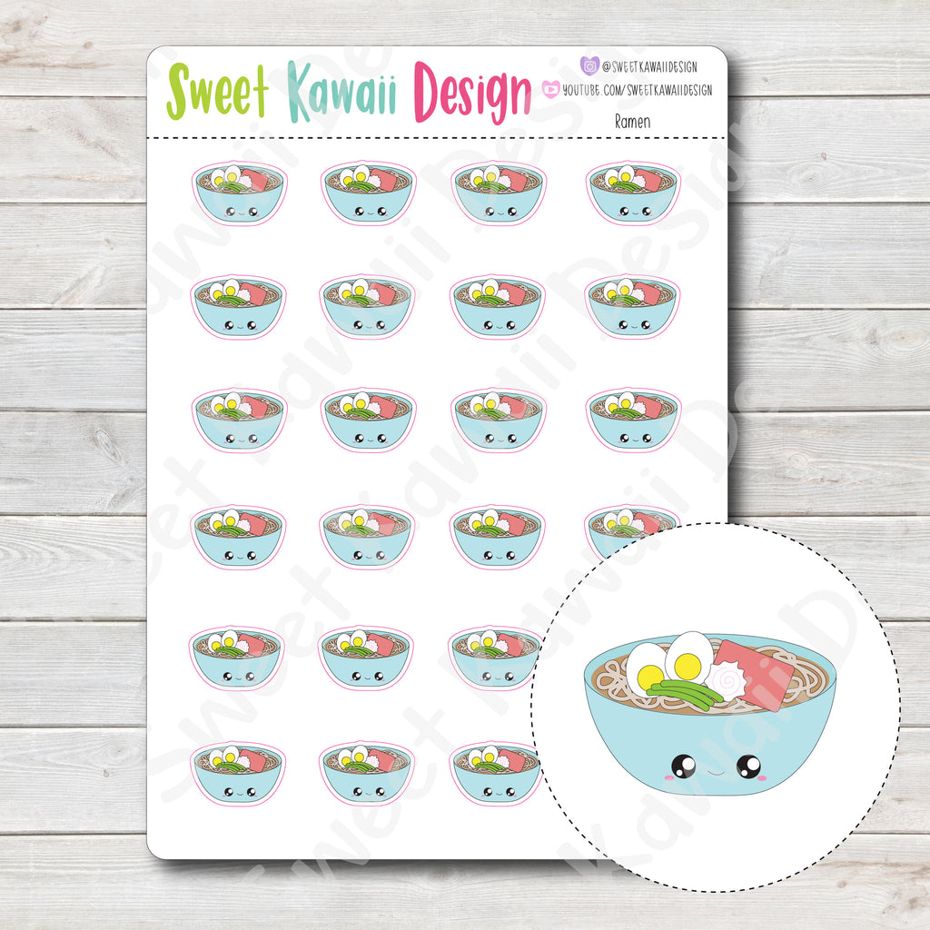 Kawaii Ramen Stickers