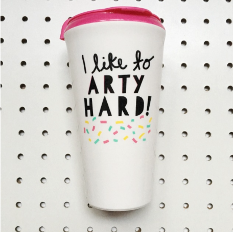 Travel mugs | travel coffee mugs | Best travel coffee mugs | ARTY hard | StudiOH, Shoppe! by My Friend Court