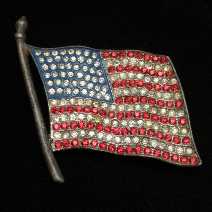 The American Flag in Costume Jewelry