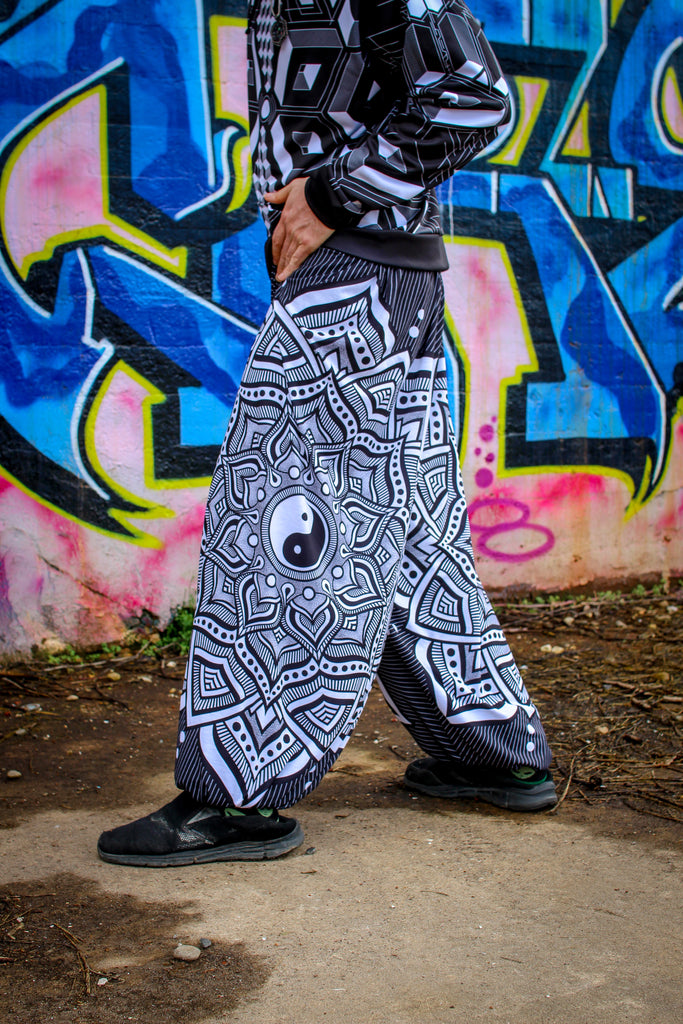 Ying Yang Mandala Harem Pants by Brock Springstead
