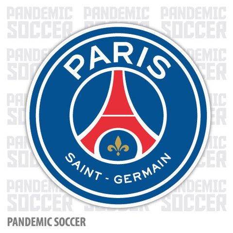 Paris Saint Germain PSG France Color Vinyl Sticker Decal - Pandemic Soccer