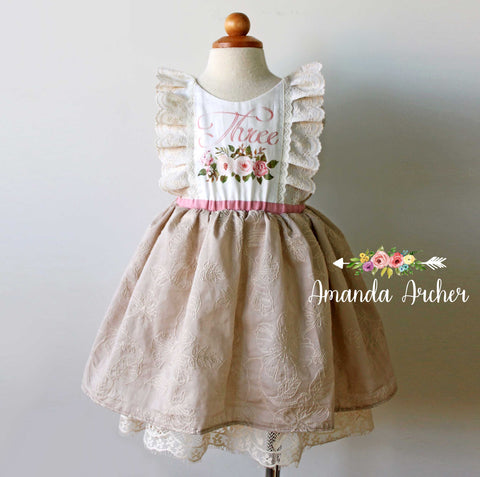 3rd Birthday Dress, Natural Wonders 3T