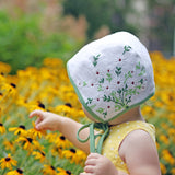 Vintage Daisy Embroidered Bonnet