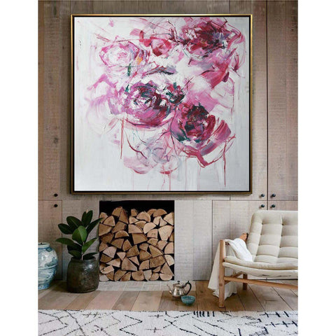 Abstract Flower Oil Painting #LX77A-Abstract Art-CZ Art Design(Celine Ziang Art)