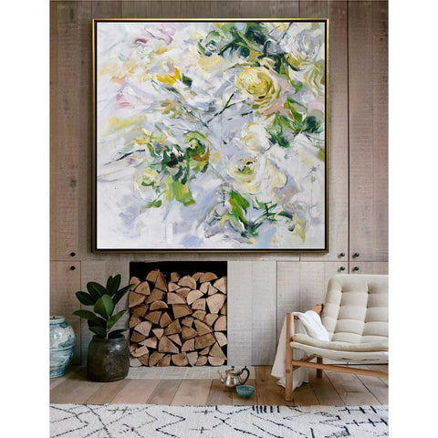 Abstract Flower Oil Painting #LX82A-Abstract Art-CZ Art Design(Celine Ziang Art)