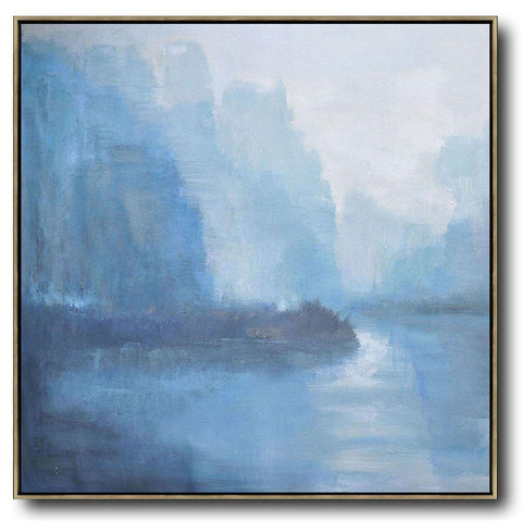 Abstract Landscape Oil Painting #LX20A-Abstract Art-CZ Art Design(Celine Ziang Art)