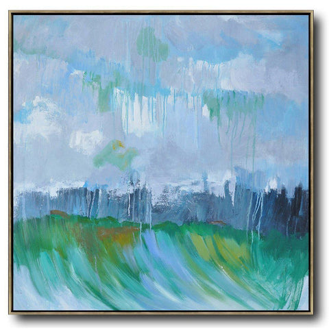 Abstract Landscape Oil Painting #LX24A-Abstract Art-CZ Art Design(Celine Ziang Art)