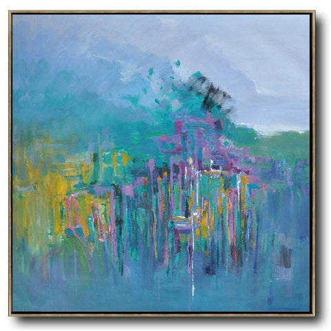 Abstract Landscape Oil Painting #LX28A-Abstract Art-CZ Art Design(Celine Ziang Art)