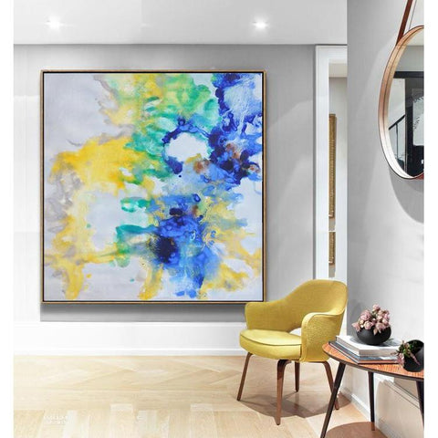 Abstract Landscape Oil Painting #LX45A-Abstract Art-CZ Art Design(Celine Ziang Art)
