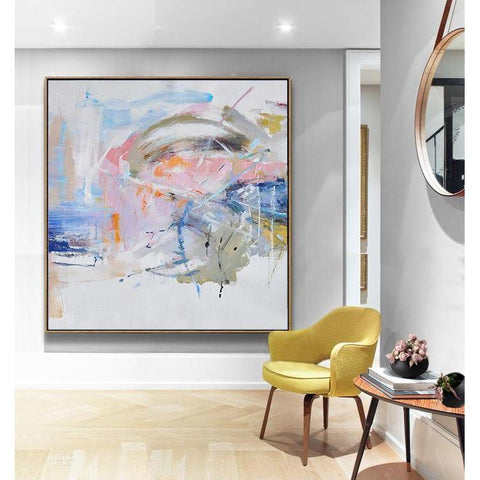 Abstract Landscape Oil Painting #LX64A-Abstract Art-CZ Art Design(Celine Ziang Art)