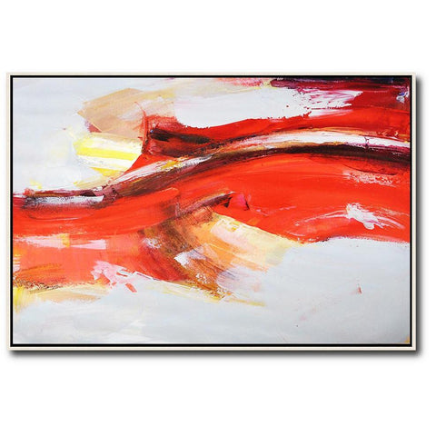 Horizontal Palette Knife Contemporary Art #C28C-Contemporary Art-CZ Art Design(Celine Ziang Art)
