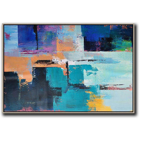 Horizontal Palette Knife Contemporary Art #C37C-Contemporary Art-CZ Art Design(Celine Ziang Art)