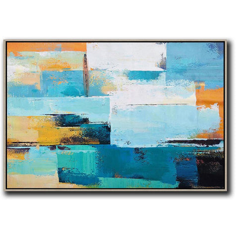 Horizontal Palette Knife Contemporary Art #C38C-Contemporary Art-CZ Art Design(Celine Ziang Art)