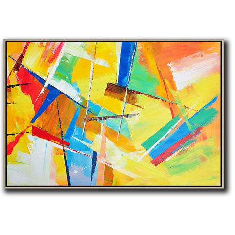 Horizontal Palette Knife Contemporary Art #C42C-Contemporary Art-CZ Art Design(Celine Ziang Art)