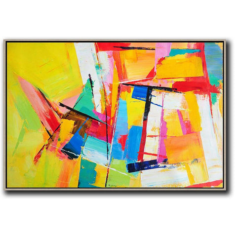 Horizontal Palette Knife Contemporary Art #C43C-Contemporary Art-CZ Art Design(Celine Ziang Art)