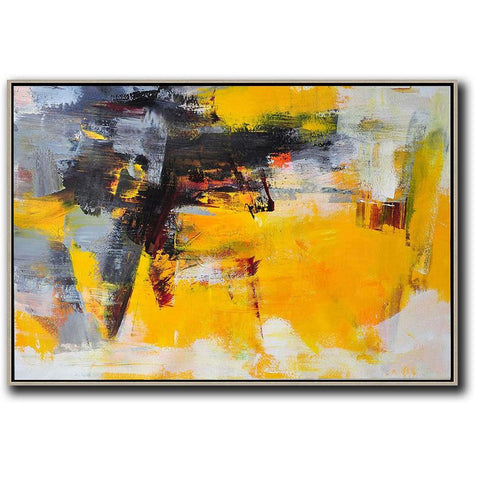 Horizontal Palette Knife Contemporary Art #C45C-Contemporary Art-CZ Art Design(Celine Ziang Art)