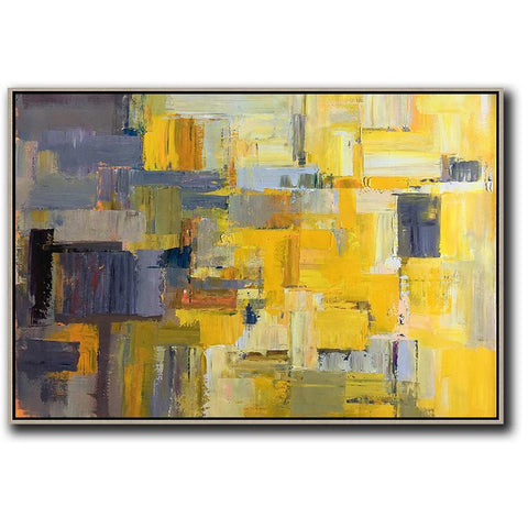 Horizontal Palette Knife Contemporary Art #C53C-Contemporary Art-CZ Art Design(Celine Ziang Art)