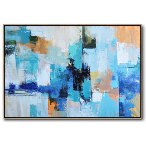 Horizontal Palette Knife Contemporary Art #C58C-Contemporary Art-CZ Art Design(Celine Ziang Art)