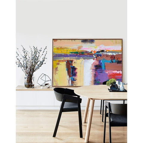 Horizontal Palette Knife Contemporary Art #C6C-Contemporary Art-CZ Art Design(Celine Ziang Art)