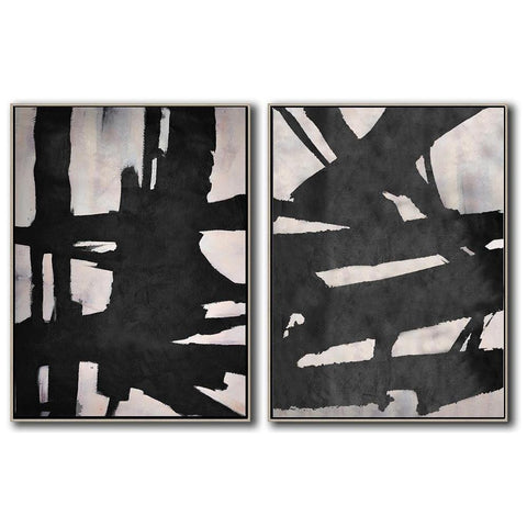 Set of 2 Minimal Art #S53-Minimal Art-CZ Art Design(Celine Ziang Art)