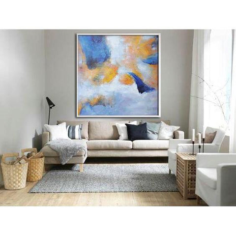 Square Abstract Landscape Painting #YJ1A-Abstract Art-CZ Art Design(Celine Ziang Art)