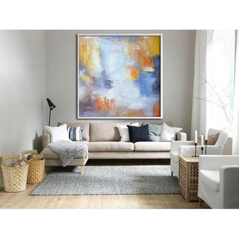 Square Abstract Landscape Painting #YJ2A-Abstract Art-CZ Art Design(Celine Ziang Art)