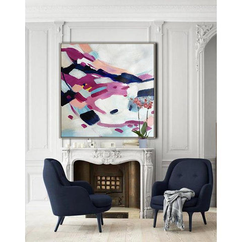 Square Abstract Painting #X2A-Abstract Art-CZ Art Design(Celine Ziang Art)