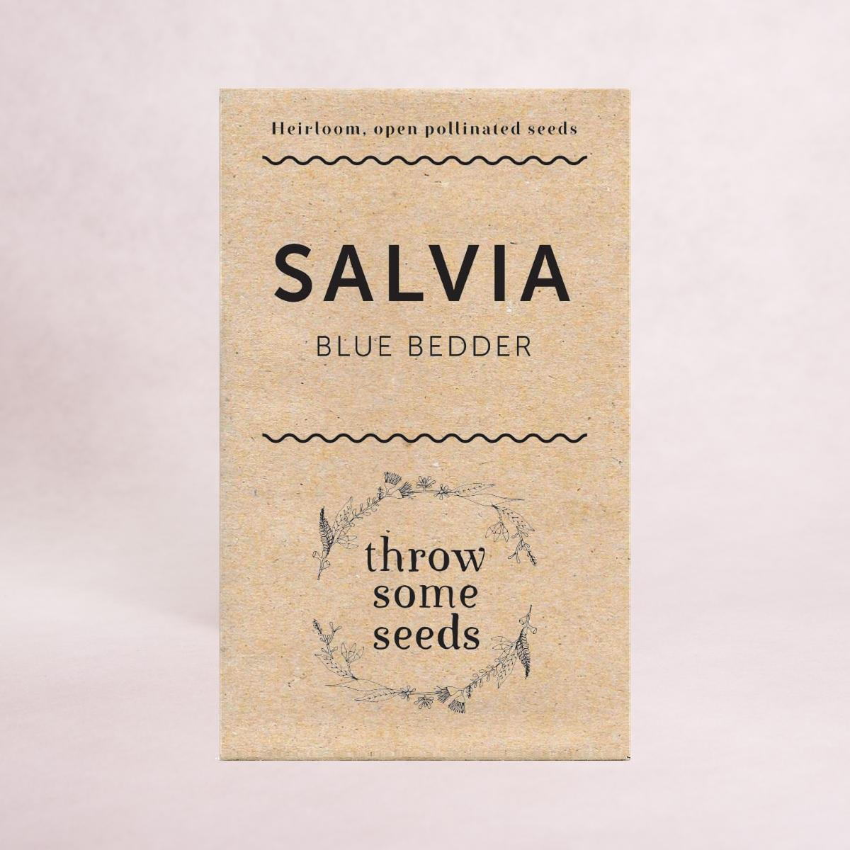 Salvia (Blue Bedder) Seeds - Seeds - Throw Some Seeds - Australian gardening gifts and eco products online!