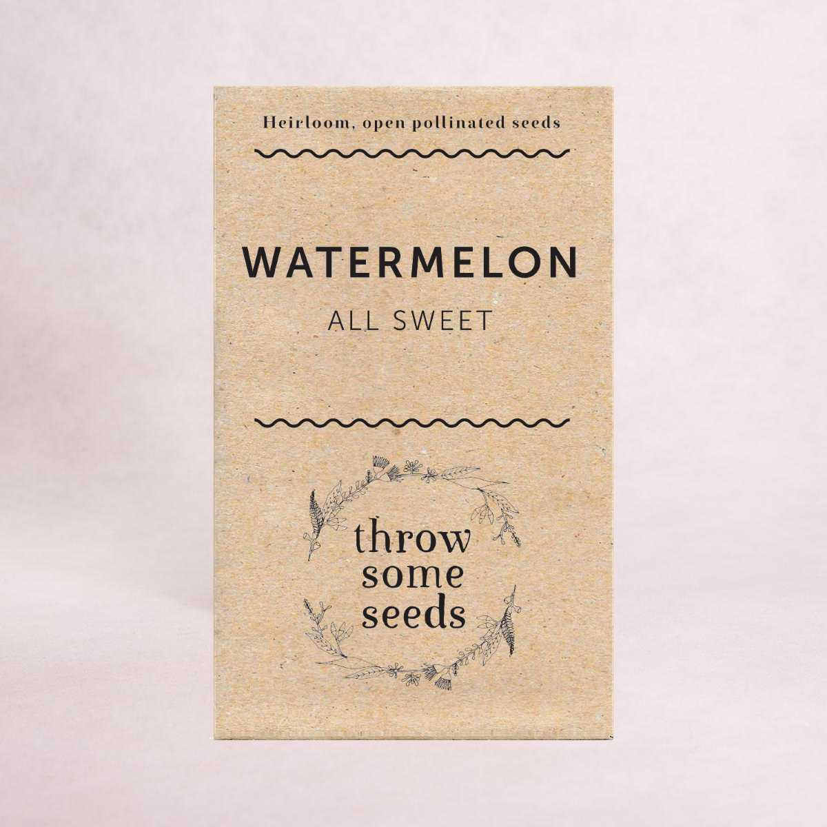 Watermelon (All Sweet) Seeds - Seeds - Throw Some Seeds - Australian gardening gifts and eco products online!