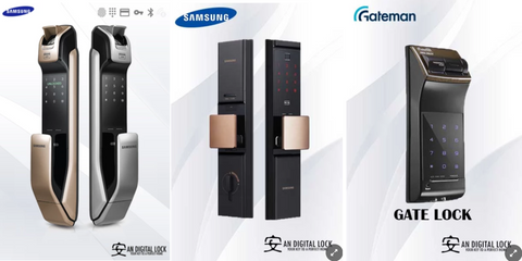 Samsung Push-pull Digital Lock Series & Gateman Gate Lock by AN Digital Lock