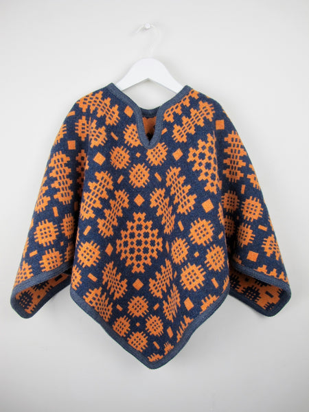 Clementine & Navy - Child Poncho