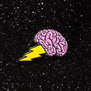 Brain Power Pin - Warrior Pins