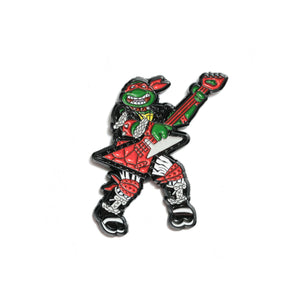 Raphael Heavy Metal Pin - Black & White Variant