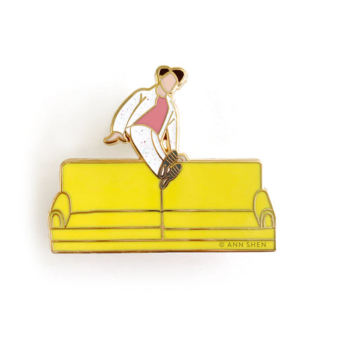 ENAMEL PIN – Boy With Love Couch, Limited Edition