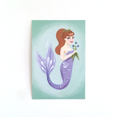 "Lily of the Sea – Single 4x6"" Postcard"