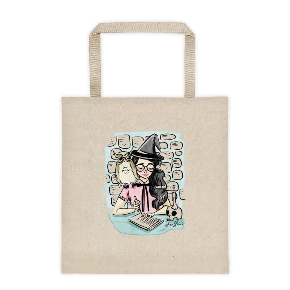 Witch at Study Tote Bag