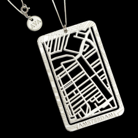 Bookmarker & Pendant Street Map - AMSTERDAM