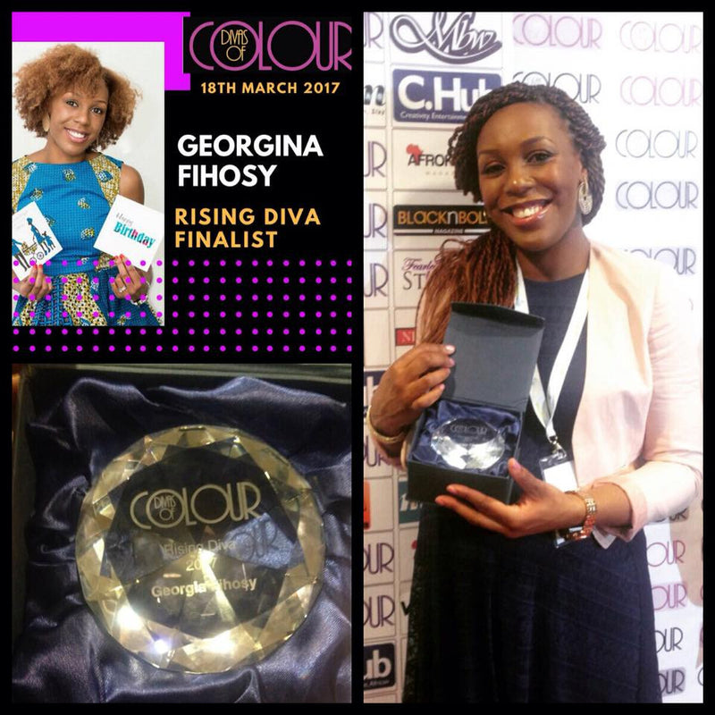 Georgina Fihosy wins Rising Star Award at Divas of Colour 2017 for Special Touch Designs