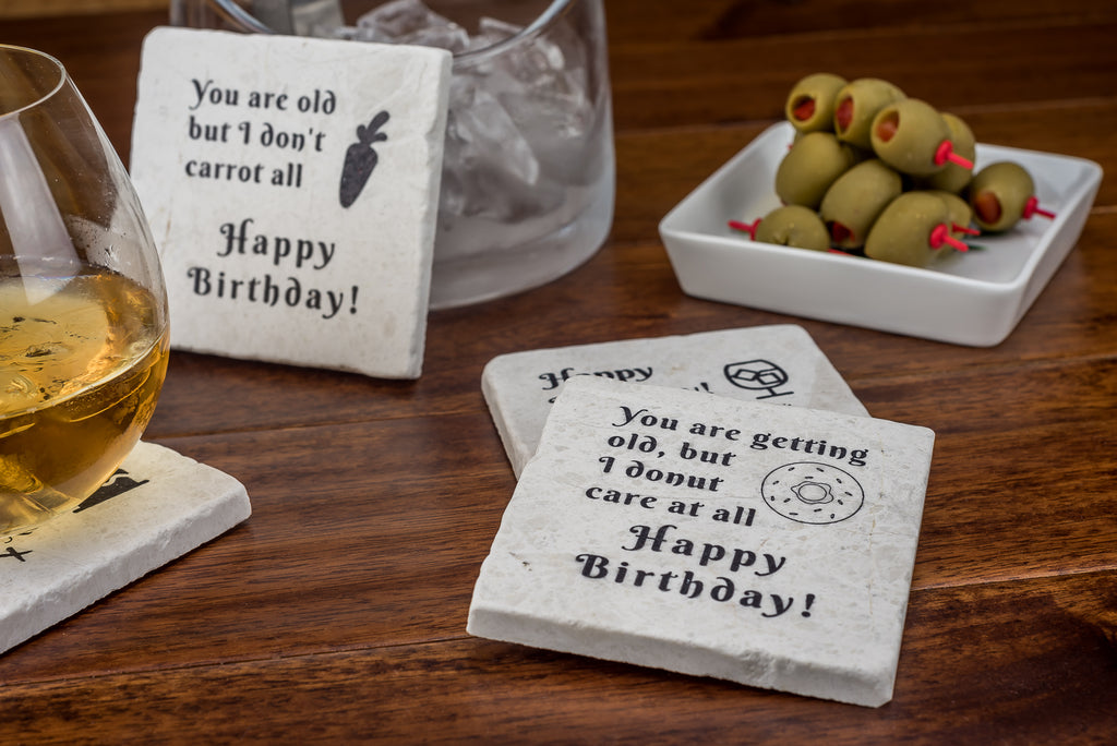 Happy Birthday Coaster Set - YogaCoaster