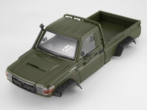 1/10 Toyota Land Cruiser 70 Hard Body Kit Fit for Traxxas TRX-4 chassis Matte military green (painted)