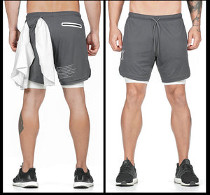 Qualifier 2-in-1 Shorts (GREY) NEW VERSION