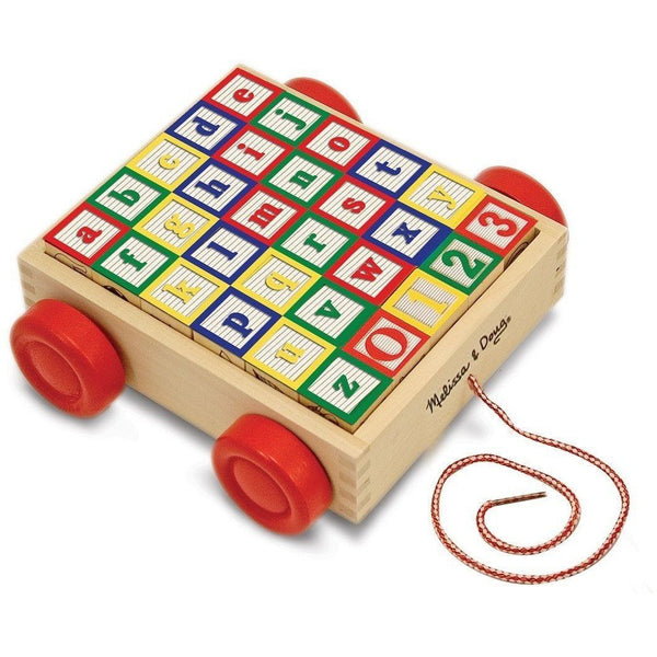 ABC 123 carro con bloques de madera -Melissa & Doug- ABC 123 Wooden blocks car
