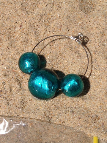 Acqua Glass Bead Earrings