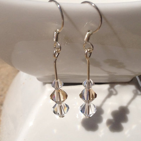 Gold Swarovski Crystal Earrings